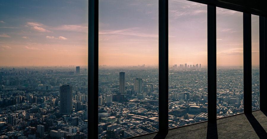 Widok z okna wieżowca